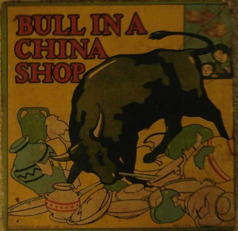 Backyard Family Fun Antique Milton Bradley Bull In A China Shop Game All