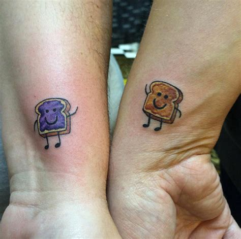 peanut butter and jelly tattoo 32 best friend designs tattooblend