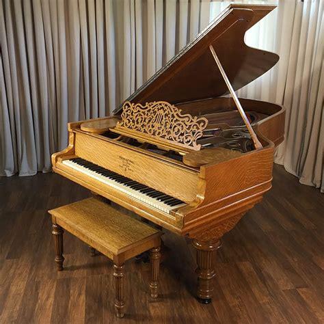 steinway victorian oak model  grand piano piano