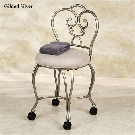 bathroom chair stool add wheels to vanity chair for the home pinterest