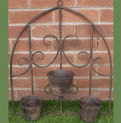 Wall Hanging Pot Holder Rustic Wall Pot Holder Planters The Garden Factory