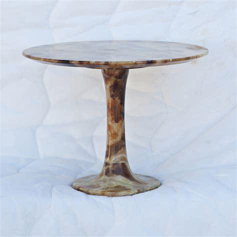 Pedestal Side Table 17 Quot Onyx Two Gu 233 Ridon Tulip Base Pedestal Side Table Ebay