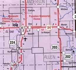 map of allen allen county map kansas kansas hotels motels