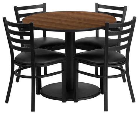 flash furniture 36 inch laminate table set with 4