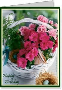 Free printable azalea birthday flowers e card