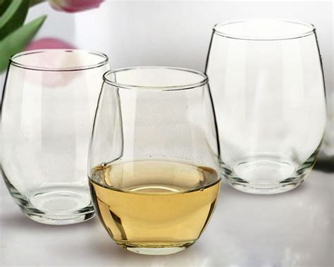 barware glasses wholesale 9 oz stemless wine glasses wholesale or bulk set of 12
