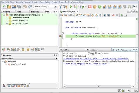 netbeans tutorial debugger debugging with netbeans