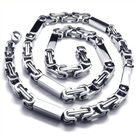 T01 217 Titanium Necklaces 21 7 inch titanium silver cuboid necklace 18835 163 135 titanium jewellery uk