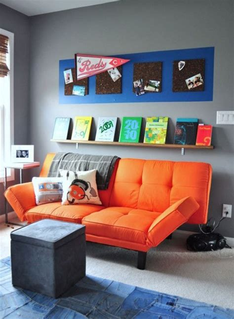 Chill Room Ideas by Chill Grey And Orange Room Design For A Pre Boy