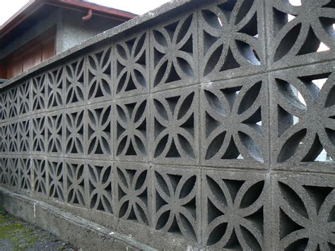 Decorative Concrete Block by And Mid Century Concrete Block Fences