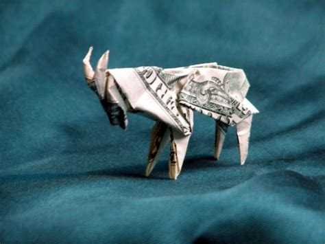 Origami Goat - details about money origami animals many designs made