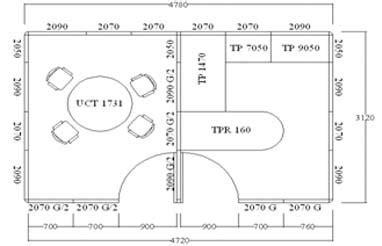 gambar layout rapat uno partisi kantor dua ruang murah bergaransi dan