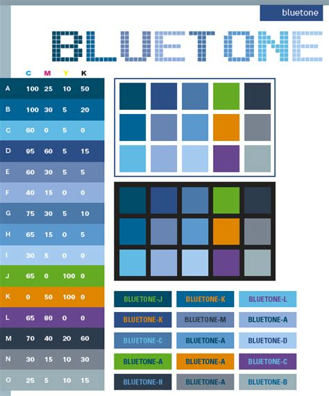 color tone blue tone color schemes color combinations color palettes for print cmyk and web rgb html
