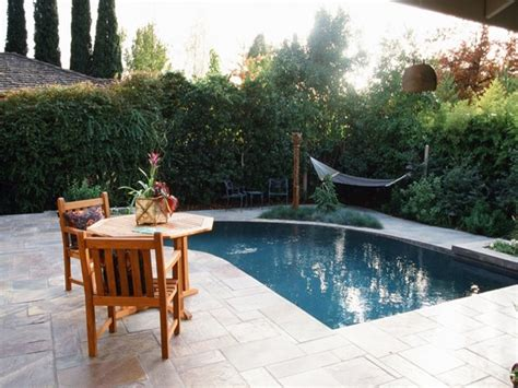 Inground Pool Patio Ideas Small Yard Pool Landscaping Backyard Swimming Pool