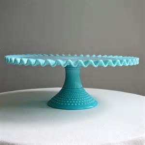Milk White Vases Fenton Turquoise Blue Hobnail Milk Glass Cake Stand By