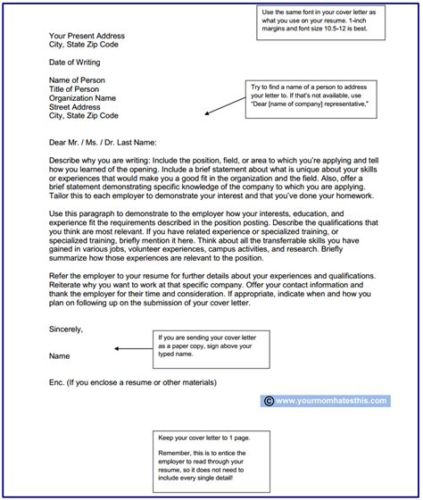 effective cover letters and templates