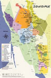 california county map interactive sonoma winery maps san francisco travelers guide