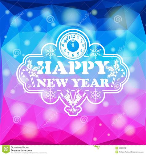 happy new year glassy design new year mosaic pattern stock vector image 45339392
