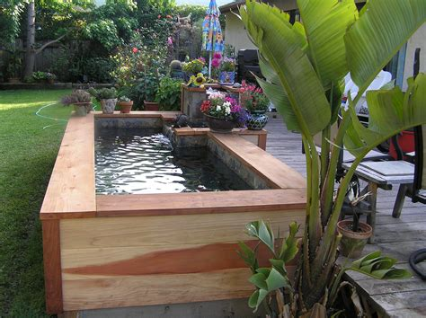 Raised Garden Pond Ideas Small Garden Ponds In Santa Barbara Garcia Rock And Water Design