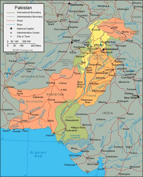 where is pakistan on the map pakistan map and satellite image