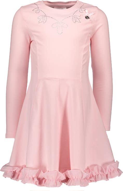 jurken le chic bol le chic meisjes jurk pink cristal maat 140