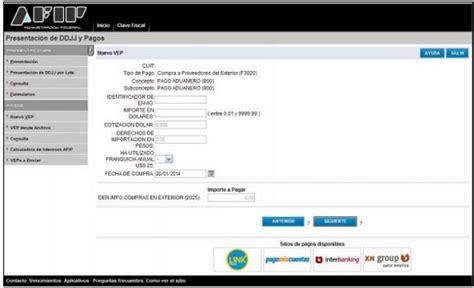 formulario f 4550 afip c 243 mo generar el vep para el pago del arancel del 50 f