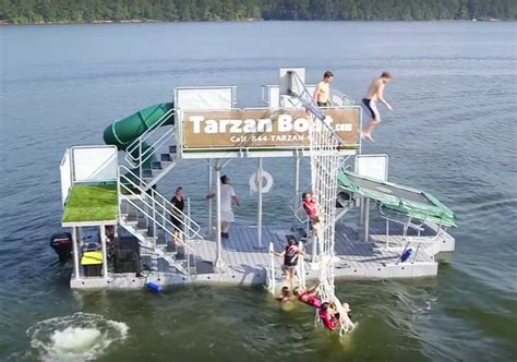 big boat with slide the tarzan boat buy your own floating waterpark geekologie