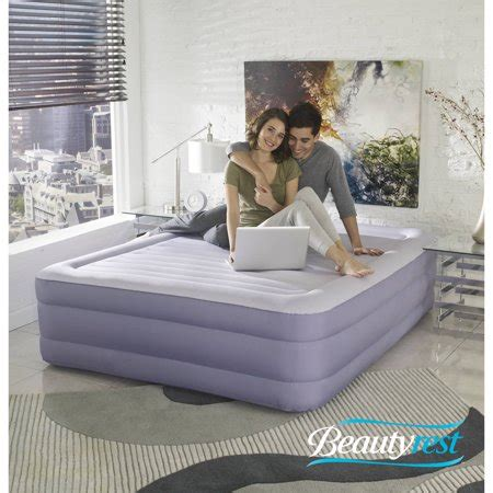 simmons beautyrest fusion aire  raised queen air bed