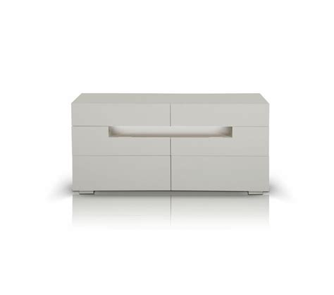 dreamfurniture com cg05d modern led white lacquer dresser