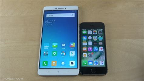 xiaomi mi max vs apple iphone 5s size comparison
