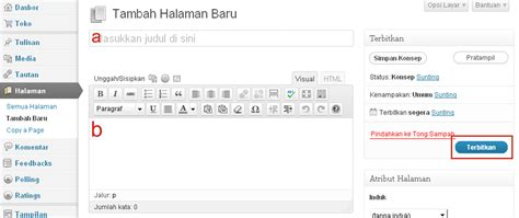 membuat link html a href cara membuat kolom tukeran link pada halaman di wordpress