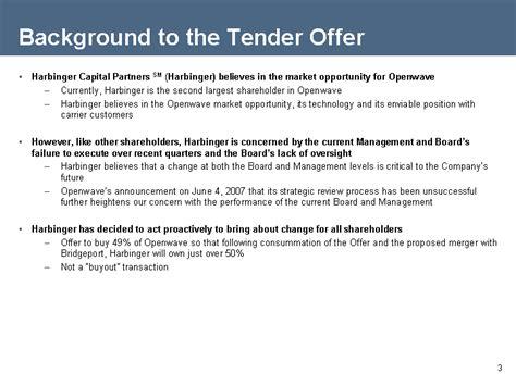 agendabackground transaction descriptionperspective on openwave s response to tender