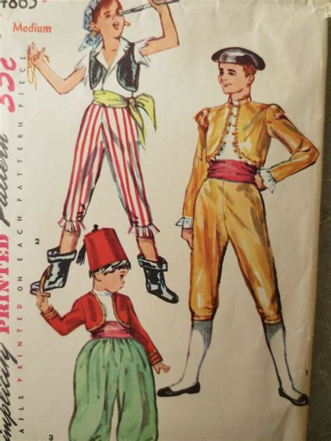 patterns sewing costumes vintage simplicity 4865 sewing pattern 1950s halloween