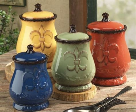 stainless steel fleur de lis finials canister set kitchen 4pc tuscan silver new ebay fleur de lis canisters for the kitchen fleur de lis