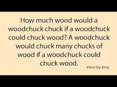 lyrics chuck learn woodchuck tongue