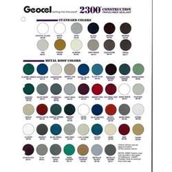 Interior Gutter Geocel 2300 Construction Tripolymer Sealant Color Sheet