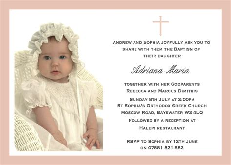 Baptism Invitations by Cococards Baptism Invitations