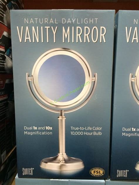 lighted makeup mirror costco costco 1089081 sunter lighted vanity mirror box costcochaser