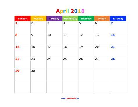 Kalender 2018 April Mai April Kalender 2018 2018 Calendario