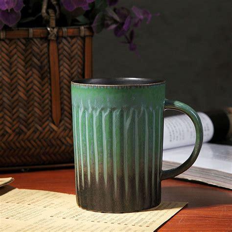 Vintage Handmade Clay Kalung Unik Gift handmade high quality classical ceramic mugs vintage style retro gradient ceramic coffee mugs