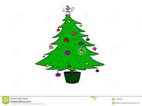 christmas tree illustration drawing stock illustration