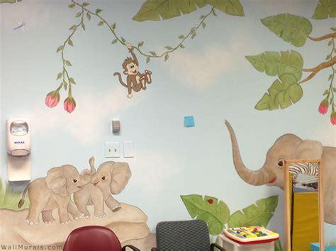 Elephant Wall Murals jungle wall murals examples of jungle theme murals