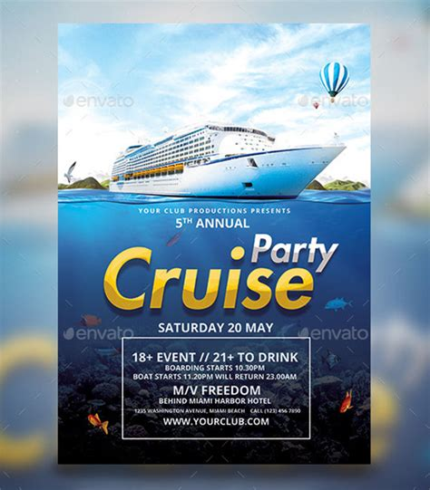 23 Cruise Flyer Templates Free Psd Vector Eps Png Ai Downloads Free Boat Flyer Template