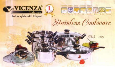 Panci Stainless Vicenza vicenza panci set v 612 jual murah vicenza panci set v
