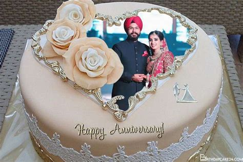 happy anniversary cake  photo frame