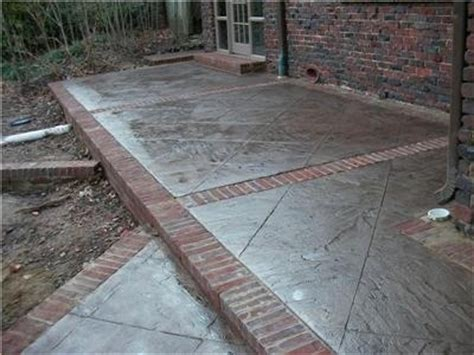 concrete and brick patio idea 2 when i a backyard