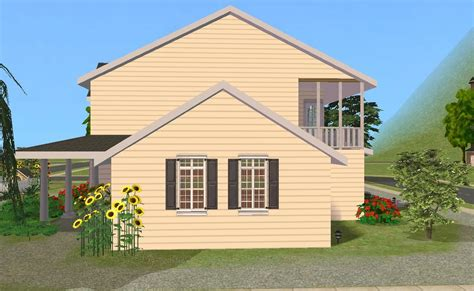 side house mod the sims country house