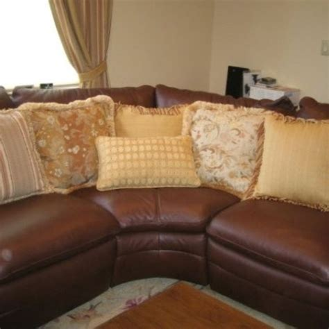 Custom Made Various Beautiful Pillows To Accent A Leather Beautiful Pillows For Sofas
