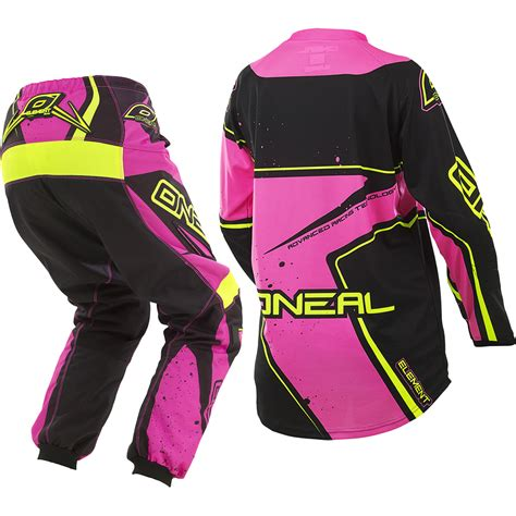 youth girls motocross gear oneal 2017 new youth element jersey pants hi viz pink