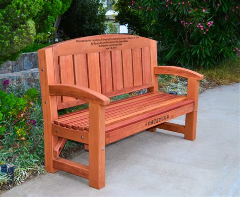 redwood bench forever redwood company chosen to manufacture a bench from
